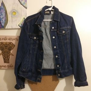 Heavy blue denim jacket levis